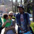 Amber Rose, Wiz Khalifa et leur fils Sebastian le 17 mars 2014 à Calabasas.