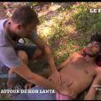 Thierry Costa examine Charles dans Koh-Lanta 2012 - vidéo mise en ligne par le site du Figaro