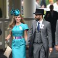 Katherine Jenkins et Andrew Levitas au Ladies Day à Ascot le 19 juin 2014. Ils se sont mariés le 27 septembre 2014 à Londres.