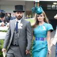 Katherine Jenkins et son compagnon Andrew Levitas  lors du Ladies Day à Ascot le 19 juin 2014. Ils se sont mariés le 27 septembre 2014 à Londres.