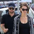 Jack Osbourne en promenade avec son épouse et sa fille, à Beverly Hills, Los Angeles, le 29 septembre 2014