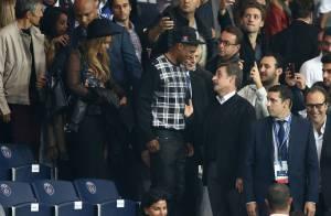 PSG-Barça: Nicolas Sarkozy et Jay-Z, accolade et franche rigolade devant Beyoncé