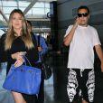 Khloe Kardashian et French Montana à l'aéroport de New York, le 4 juillet 2014.