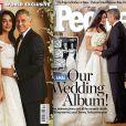 George Clooney et Amal Alamuddin en robe Oscar dela Renta : les mariés en couverture des magazines Hello! et People