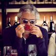 Exclusif - Andrea Bocelli fête son 56e anniversaire avec sa femme Veronica et leur fille Virginia à l'Hôtel O'Connell's à Melbourne, le 22 septembre. Le ténor italien est en Australie à l'occasion du lancement de ses vins sur le marché australien.