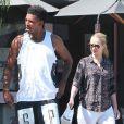 Exclusif - Iggy Azalea et son petit ami Nick Young déjeunent au restaurant à West Hollywood, le 13 juin 2014.