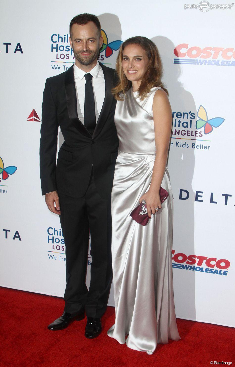 "Natalie Portman et son mari Benjamin Millepied - Gala ""Noche De Ninos"" organisé par l'hôpital des enfants de Los Angeles, le 11 octobre 2014."