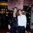 """Exclusif - Marella Rossi-Mosseri et Zelda Wittgenstein lors de la projection en avant-première du film """"Samba"""" au Cinéma Katara du Royal Monceau-Raffles Paris le 14 octobre 2014, organisé par l'Hôtel Guanahani & SPA."""