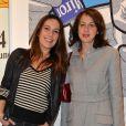 """Exclusif - Zoé Félix et Valérie Bonneton - Vernissage de l'exposition """"Vieux, nous ? Jamais !"""", organisée pour les 60 ans de Damart, à la galerie L'Imprimerie à Paris, le 16 octobre 2014."""