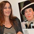 """Exclusif - Zoé Félix - Vernissage de l'exposition """"Vieux, nous ? Jamais !"""", organisée pour les 60 ans de Damart, à la galerie L'Imprimerie à Paris, le 16 octobre 2014."""