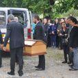 Nicole (la fille de Marc Galabru) - Obsèques de Marc Galabru, le frère cadet de Michel Galabru, médecin, homme de lettres et de théâtre, en l'église Saint-Vincent au Bousquet-d'Orb, le 14 octobre 2014.