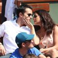 Maxime Chattam et Faustine Bollaert - People au 4e jour des Internationaux de France de Roland-Garros en 2012.