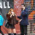 Scout Willis en compagnie de son nouveau boyfriend Matt Sukkar dans les rues de New York, le 23 octobre 2014.