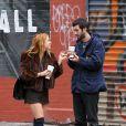 Scout Willis en compagnie de son nouveau boyfriend Matt Sukkar, dans les rues de New York, le 23 octobre 2014.