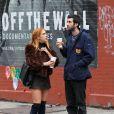 Scout Willis avec son nouveau boyfriend Matt Sukkar dans les rues de New York, le 23 octobre 2014.