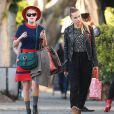 Exclusif - Tallulah Willis et Blanda Eggenschwiler font du shopping à West Hollywood, le 21 octobre 2014.
