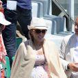 Jelena Ristic, enceinte, lors de la demi-finale de Roland Garros à Paris, le 6 juin 2014