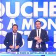Camille Combal et Cyril Hanouna dans Touche pas à mon poste, le jeudi 30 octobre 2014.