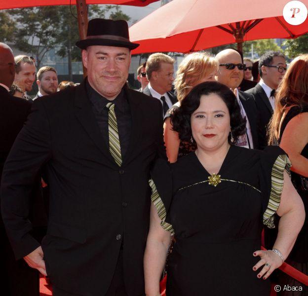 Alex Borstein et son mari Jackson Douglas à la soirée des Emmy Awards à Los Angeles, le 15 septembre 2013