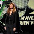 Doria Tillier, lors de l'enregistrement de la soirée des 30 ans de Canal+, le vendredi 31 octobre 2014 au Palais des Sports de Paris. Diffusion le mardi 4 novembre 2014 sur Canal+.