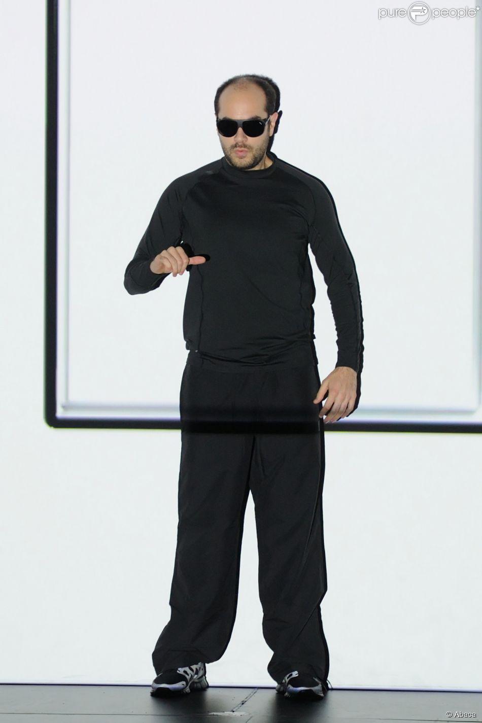 Kyan Khojandi, lors de l'enregistrement de la soirée des 30 ans de Canal+, le vendredi 31 octobre 2014 au Palais des Sports de Paris. Diffusion le mardi 4 novembre 2014 sur Canal+.