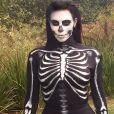 """"""" Kim Kardashian déguisée en squelette pour Halloween, le 31 octobre 2014. """""""