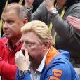 Boris Becker à la finale de l'Open Masters 1000 de Tennis Paris-Bercy entre Novak Djokovic et Milos Raonic à Paris le 2 novembre 2014.