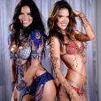 Les top models brésiliens Adriana Lima et Alessandra Ambrosio porteront les parures ultrasexy de Mouawad pour Victoria's Secret, lors du défilé 2014 de la marque de lingerie.