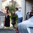 Abigail Ratchford en plein shooting pour 138 water dans une villa de Beverly Hills. Le 23 octobre 2014.