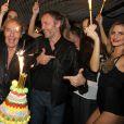 Exclusif - Jean-Michel Maire célèbre son anniversaire (53 ans) au Queen aux côtés de Tony Gomez à Paris, le 3 novembre 2014.