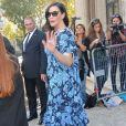 """Liv Tyler (enceinte) - Arrivées au défilé de mode """"Miu Miu"""", collection prêt-à-porter printemps-été 2015, à Paris, le 1er octobre 2014."""