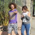 Redfoo des LMFAO avec une mystérieuse brune qui pourrait être sa compagne, dans les rues de West Hollywood, le 13 novembre 2014