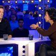 Mathieu Kassovitz et Rachida Dati dans On n'est pas couché, le samedi 15 novembre 2014 sur France 2.