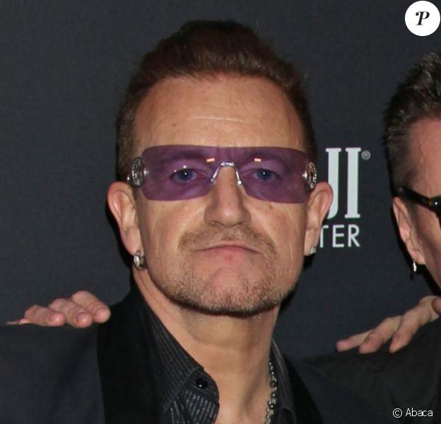 U2 après les Golden Globe Awards à Los Angeles, le 12 janvier 2014.
