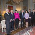 Le roi Carl XVI Gustaf de Suède, la reine Silvia, la princesse Victoria et le prince Daniel prenaient part le 18 novembre 2014 à un déjeuner en l'honneur de l'ancien président du Parlement Per Westerberg.