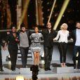 """Exclusif - Michael Gregorio, Claudia Tagbo, Louis Delort, Tal, Pascal Obispo, Camille Lou, M.Pokora (Matt Pokora) et Amel Bent - Enregistrement de l'émission """"Alors on chante"""" au Palais des sports à Paris, qui sera diffusée le 28 novembre 2014 en Prime Time sur TF1, à l'occasion des 20 ans du Sidaction et de la sortie de l'album """"Kiss & Love"""" - le 17 novembre 2014"""