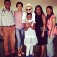 Madonna pendant sa visite à l'établissement médical Queen Elizabeth Hospital, au Malawi, novembre 2014.