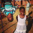 Mercy et David, les enfants de Madonna au Malawi, novembre 2014.