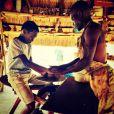 David, le fils de Madonna, en plein atelier poterie, au Malawi, novembre 2014.