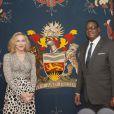 Madonna etle président du Malawi, Peter Mutharika, à Lilongwe, le 28 novembre 2014