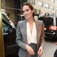 Angelina Jolie arrive au déjeuner consacré au film Invincible (Unbroken) à New York le 2 décembre 2014.