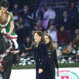 Jennifer Gates, La princesse Caroline de Hanovre lors de l'épreuve Style & Sport Competition for AMADE au troisième jour du Gucci Paris Masters à Villepinte le 6 décembre 2014