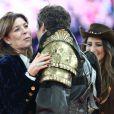 La princesse Caroline de Hanovre, Guillaume Canet, Jessica Springsteen lors de l'épreuve Style & Sport Competition for AMADE au troisième jour du Gucci Paris Masters à Villepinte le 6 décembre 2014
