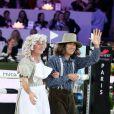 Nicolas Canteloup lors de l'épreuve Style & Sport Competition for AMADE au troisième jour du Gucci Paris Masters à Villepinte le 6 décembre 2014
