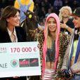 La princesse Caroline de Hanovre, Edwina Tops-Alexander, Charlotte Casiraghi lors de l'épreuve Style & Sport Competition for AMADE au troisième jour du Gucci Paris Masters à Villepinte le 6 décembre 2014
