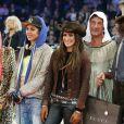 Edwina Tops-Alexander, Charlotte Casiraghi, Jessica Springsteen, Nicolas Canteloup lors de l'épreuve Style & Sport Competition for AMADE au troisième jour du Gucci Paris Masters à Villepinte le 6 décembre 2014