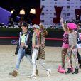 Charlotte Casiraghi, Edwina Tops-Alexander lors de l'épreuve Style & Sport Competition for AMADE au troisième jour du Gucci Paris Masters à Villepinte le 6 décembre 2014