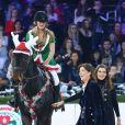 La princesse Caroline de Hanovrelors de l'épreuve Style & Sport Competition for AMADE au troisième jour du Gucci Paris Masters à Villepinte le 6 décembre 2014