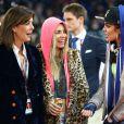 Charlotte Casiraghi, la princesse Caroline de Hanovre et Edwina Tops-Alexander lors de l'épreuve Style & Sport Competition for AMADE au troisième jour du Gucci Paris Masters à Villepinte le 6 décembre 2014