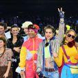 Philippe Rozier, Charlotte Casiraghi et Electra Niarchos lors de l'épreuve Style & Sport Competition for AMADE au troisième jour du Gucci Paris Masters à Villepinte le 6 décembre 2014